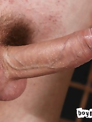 Pale, skinny and pierced cutie Brad Holt works a big, fat uncut cock through a gloryhole in this new video. This boy must have been mighty hungry caus